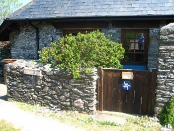 The entrance to Sea Rocket Cottage from East Prawle village green