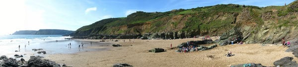 The beach at Gara Rock South Devon, near East Portlemouth and East Prawle