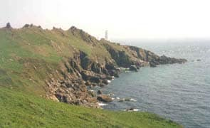 start point lighthouse, near East Prawle cottages