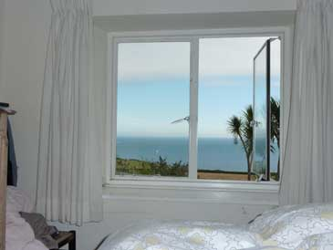 Foss cottage bedroom with sea view