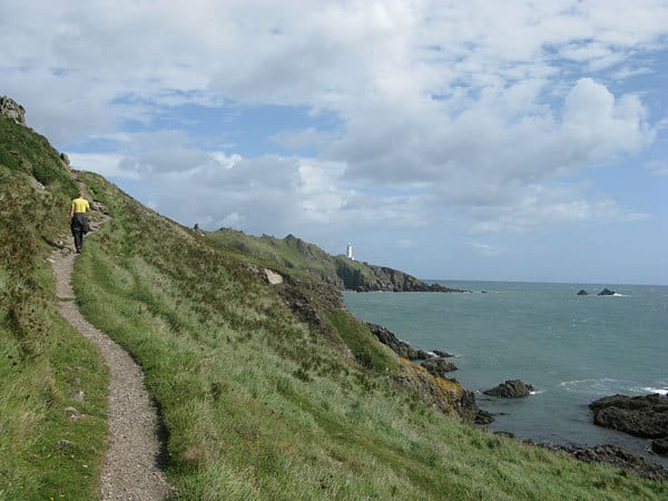 Walking the south coast walk to lighthouse, Start Point