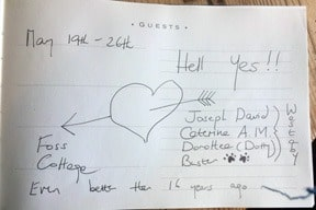 ecstatic review for Foss Cottage holiday rental