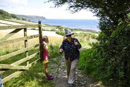 walking up from Horsley beach at East Prawle