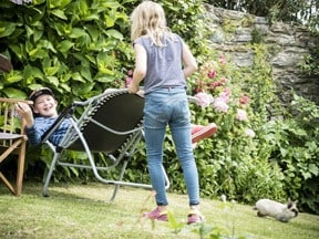 garden chairs and play at Foss Cottage self-catering holiday paradise