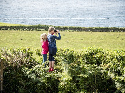 children on holiday at our cottage